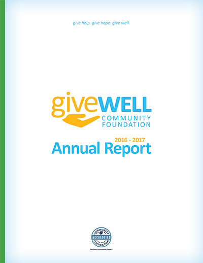 Cover of GWCF's 2016 Annual Report
