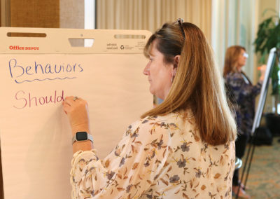 Attendee participating in an interactive session