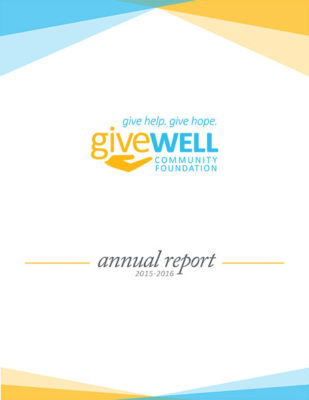 Cover of GWCF's 2015 Annual Report