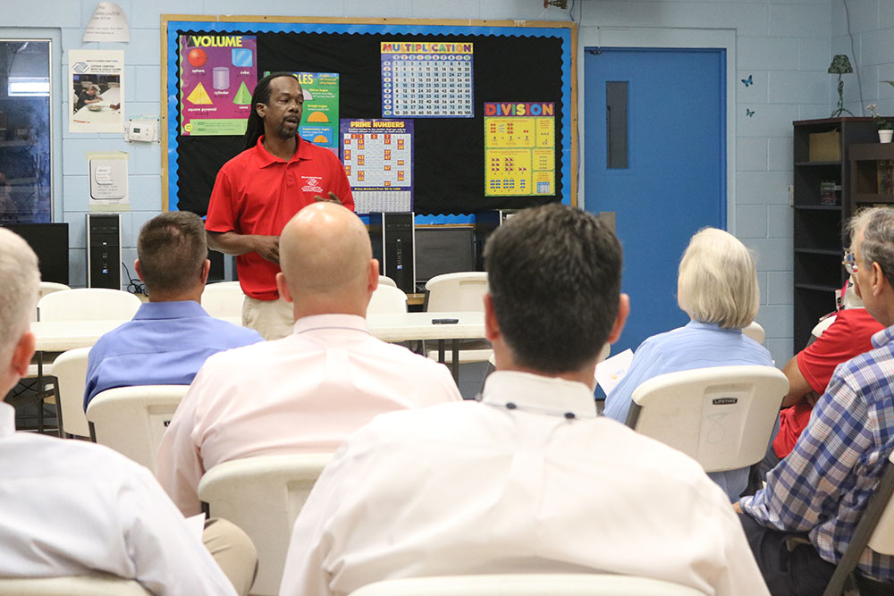 Citrus Center Boys and Girls Club's Avery Engram speaks to GWCF's Regional Leadership Council