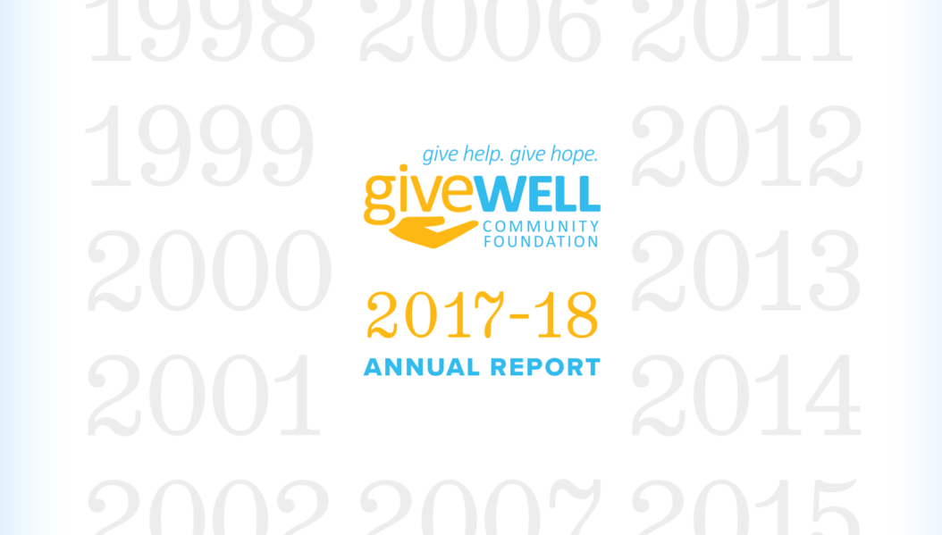 Close up of GWCG's 2017 Annual Report's front cover