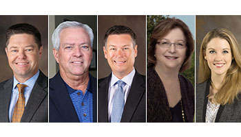 Photos of five new GWCF board members