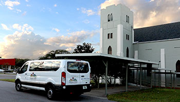 Parker Street Ministries' Van and Building