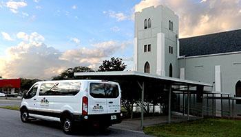 Parker Street Ministries' Van and Building