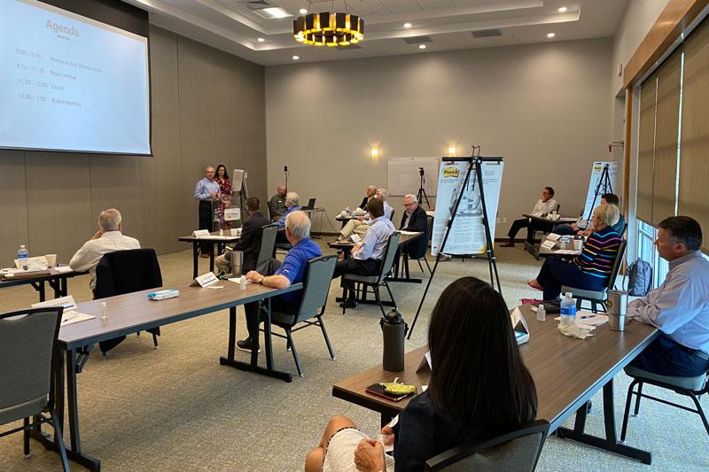 GWCF board members attending a retreat